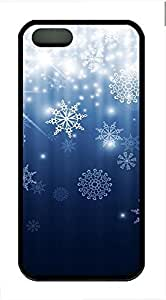 Romantic Snow Cover Case Skin for iPhone 5 5S Soft TPU Black