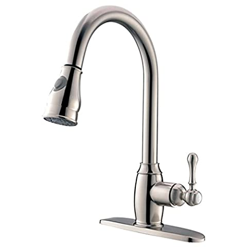 LightInTheBox Deck Mounted Single Handle One Hole with Nickel Brushed Kitchen faucet