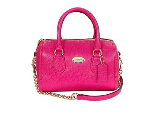 Coach Crossgrain Leather Baby Bennett Satchel Pink Ruby F34641