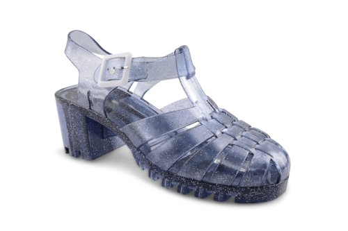 Footwear Sensation - Sandalias de vestir para mujer Blanco blanco crema Blanco - gris (SMOKE GLITTER)