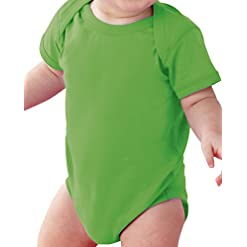 Rabbit Skins Infant 100% Cotton Jersey Lap Shoulder Short Sleeve Bodysuit 40