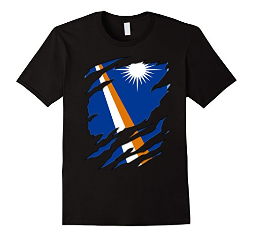 Mens Super Marshall Islands flag gifts Shirt Large Black - Marshall Clothing Store