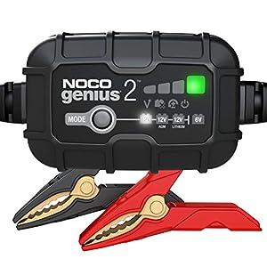 NOCO GENIUS2EU, 2A Vollautomatisches Intelligent Ladegerät, 6V und 12V Batterieladegerät, Erhaltungsladegerät, und…