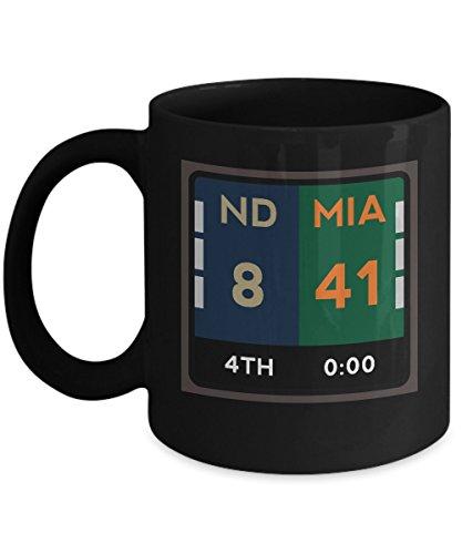 Miami Florida Coffee Mug   11Oz Black Ceramic Tea Cup Funny Scoreboard Fan Pride Novelty Holiday Christmas Gift  Set Of 1