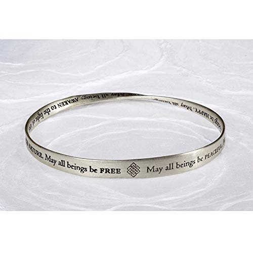 DharmaCrafts Buddhist Prayer Bracelet Mobius Twisted Bangle (Metta Bangle)