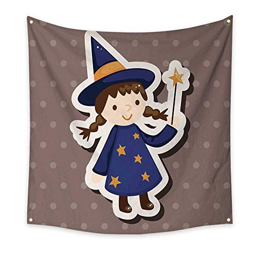 BlountDecor Gorgeous Tapestry Halloween Party Costume Theme Elements 39W x 39L Inch ()