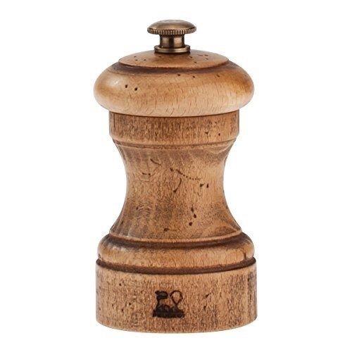 - Peugeot Antique Bistro Beechwood 4 Inch Salt Mill