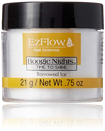 EZ Flow Time To Shine Glitter False Nails, Borrowed Ice, 0.75 - Ezflow Acrylic Powder