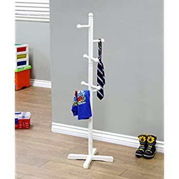 Amazon.com: Milliard Kids Coat Tree Rack Hanger Wooden White ...