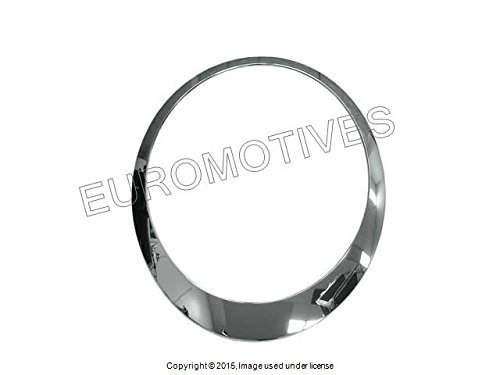 Mini (2nd Gen) Headlamp Trim Ring RIGHT Chrome (Chrome Headlight Trim Rings)