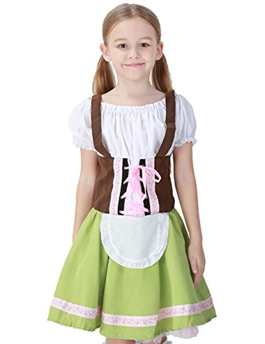 German Girl Outfit (Girl Dress For Halloween Costumes German Beer Festival Clothing Maid Outfit Waitress Role-Playing Game Uniforms (M))