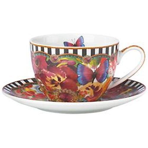 Eliza Stripe (Lenox Melli Mello - Eliza Stripe Coffee Cup/Saucer, 6 1/2