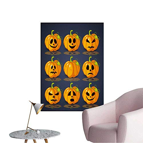 Wall Decals Poster,Banner and Background for Pumpkins for Halloween Environmental Protection Vinyl,32