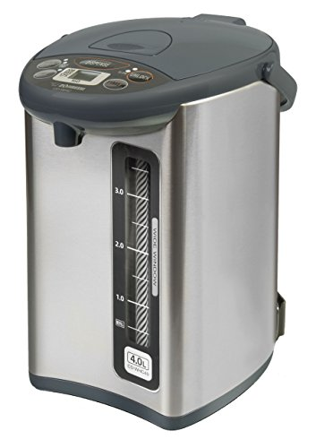 (Zojirushi CD-WHC40XH Micom Water Boiler & Warmer, 135 oz, Stainless Gray)