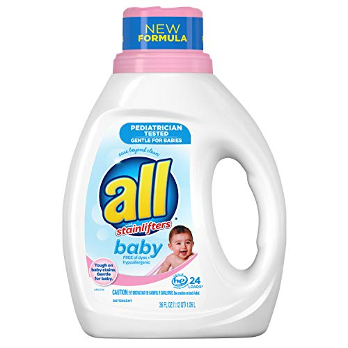 All Liquid Laundry Detergent, Gentle for Baby, 24 Loads, 36 fl oz