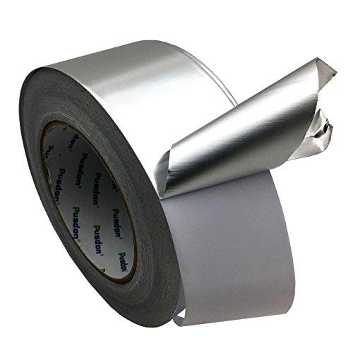 Pusdon Multi-Purpose Aluminum Foil Tape, Silver, 2-Inch x 60 Yards (51mm x 55m) by Pusdon