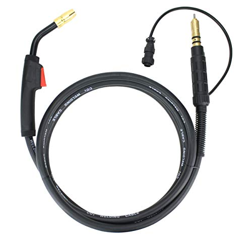 150 Amp MIG Gun Torch Replacement for Miller/Hobart - 12 Feet Cable - Two-Pin Signal Connector