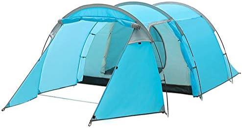 BXY Tienda Instantánea De Campaña 3-4 Personas, Tiendas De Campaña Impermeable Familiares con Ventilación Avanzada para Parque Acampar Al Aire Libre Vacaciones En La Playa(Azul)