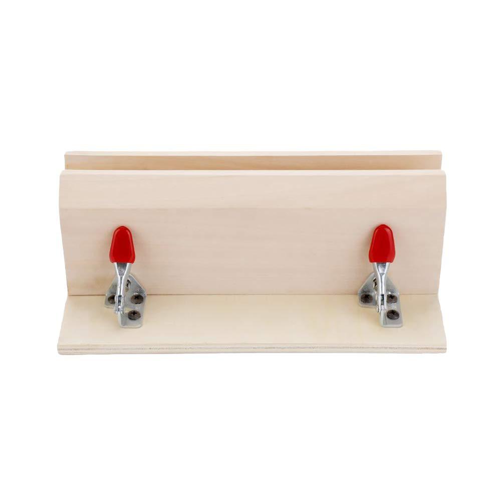 Healifty - Pinza de sujeció n de cuero horizontal para manualidades, herramientas de madera para coser y coser
