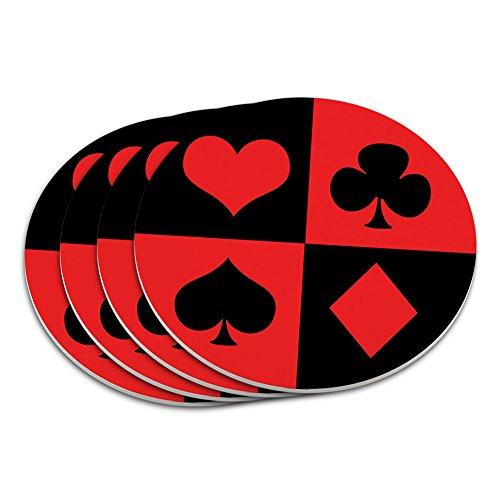 (Casino Party Card Poker Game Night Coaster Set)