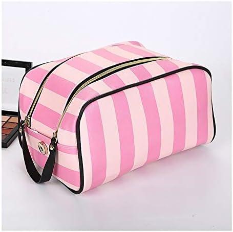 YouNITE 女性のための防水化粧バッグバッグハンドバッグメイクアップをドロップシッピング女性トイレタリーバッグ大容量トラベルハンドバッグ (Color : Pink)