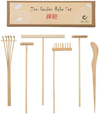 Mini Rastrillos Zen Garden en Bambú Puro, Kit de Juego de Terapia con Accesorios ce Caja De Arena Para la Serenidad, la Meditación y la Paz Espiritual: Amazon.es: Juguetes y juegos