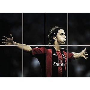 Zlatan Ibrahimovic Ac Milan Football Kunst Neu Picture Poster G1145