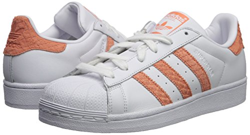 Adidas Originals Women's Superstar W, White/chalk Coral/Legacy, 10.5 M US