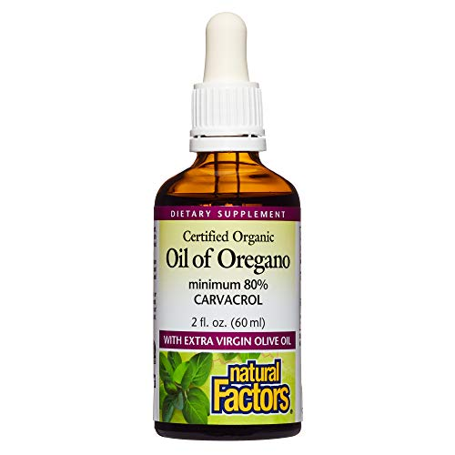 Natural Factors – Oil of Oregano, Certified Organic Support for Healthy Immunity and Cholesterol, 374 Servings (2 oz) For Sale