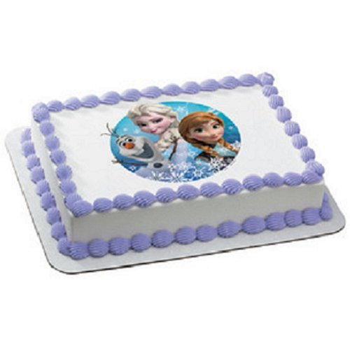 Frozen Olaf, Anna, and Elsa Edible Icing Image Cake Decoration Topper (8 ()