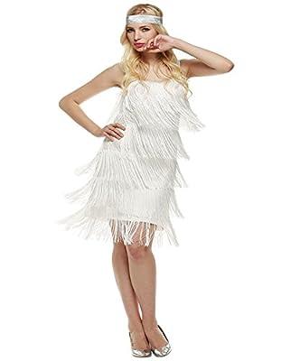 Eshion Women's 1920s Flapper Fringe Gatsby Evening Cocktail Ballroom Dance Dress