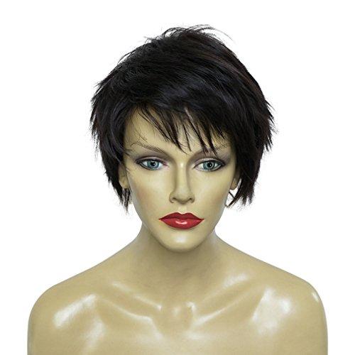 Unisex Black Wig - 50/50