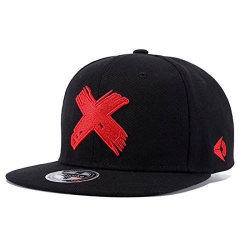 All Star Embroidered Cap - King Star Men Embroidered Baseball Cap Flat Bill Adjustable Snapback Hats Red