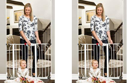 "Regalo Easy Step Walk Thru Gate, White, Fits Spaces Between 29"" to 39"" Wide (2-(Pack))"