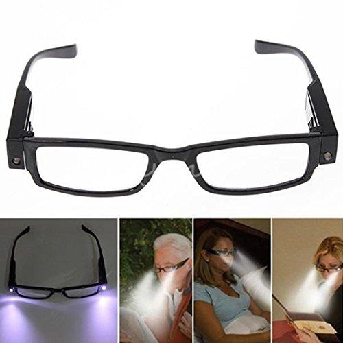 NPLE--Rimmed Reading Eye Glasses Eyeglasses Bedroom Spectacal With LED Light Portable! - Eyeglasses Eugene