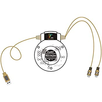 FORE USB in-Out MIDI Interface Converter/Adapter with 5-PIN DIN MIDI Cable for PC/Laptop/Mac Color Anti-brass
