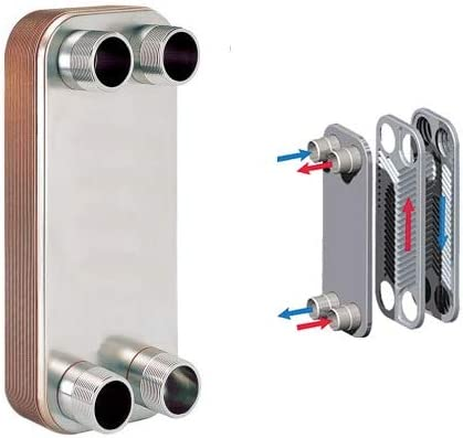 Amazon.com: 10-plate Brazed Plate Heat Exchanger, 316L Stainless ...