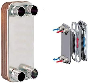 "316L St 1/"" MPT Ports 30-Plate 4-1//4/"" x 12/"" Brazed Plate Heat Exchanger Steel"