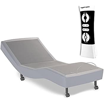 Fashion Bed Group 4AQ169 S-Cape Adjustable Bed Base with Wallhugger Movement and Full Body Massage, Gray Finish, Twin XL