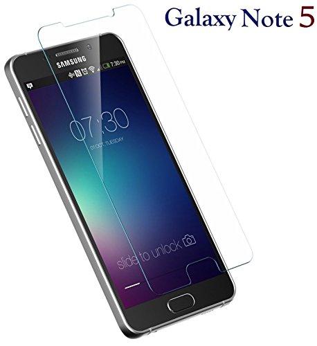 Galaxy Note 5 ] Tempered Glass Ballistic LCD Screen Protector Film Screen Guard Premium HD Cover Shield for Samsung Galaxy Note 5 (Premium Lcd Screen Protector)