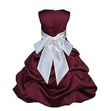 Wedding burgundy Wine Flower Girl Dress Bridemaid Communion 806s