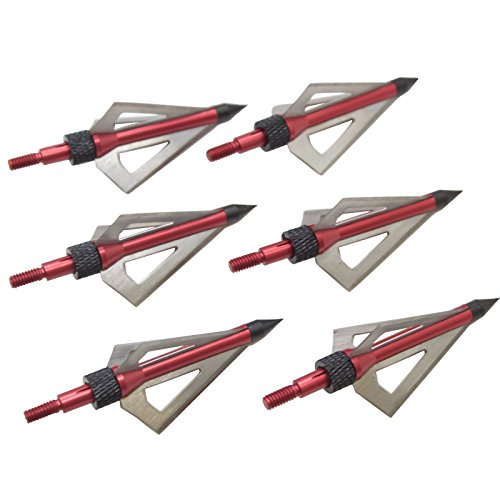 100gr Broadhead - Red 3-Blade Broadhead Tips 100gr. 6/Pack