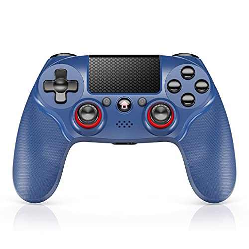 Wireless Controller for PS4 - Touch Panel Controller with Dual Axis Vibration and Wireless Bluetooth Audio Gamepad Joystick Gamepad Gaming Controller for PlayStation 4
