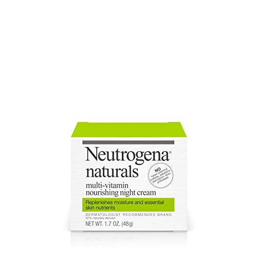 41Mz1cs8exL - Neutrogena Naturals Multi-Vitamin Moisturizing & Nourishing Night Face Cream with Antioxidant Bionutrients & Vitamins B, C & E, Non-Comedogenic & Sulfate-, Paraben-, Phthalate- & Dye-Free, 1.7 oz