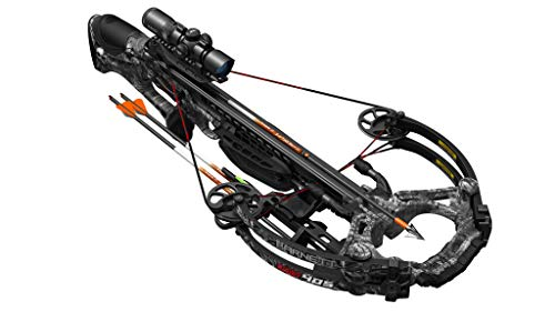 Barnett HyperGhost 405 Crossbow in Mossy Oak Treestand Camo, Shoots 405 Feet Per Second and Includes Premium Illuminated 4X32 Scope (Best Compound Crossbow 2019)