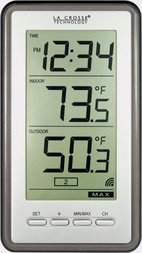 La Crosse Technology Indoor/Outdoor Temperature WS-9160U-IT Digital Thermometer,