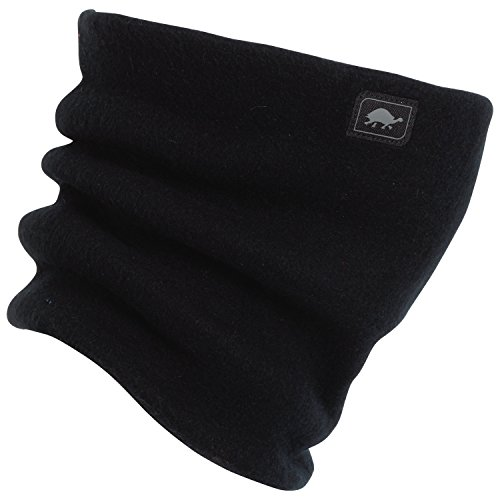Turtle Fur Heavyweight Fleece Neck Warmer - Black (Fur Turtle Warmer Neck)
