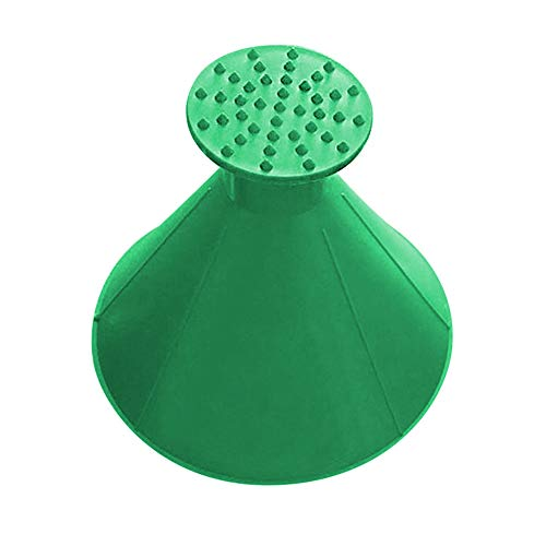 (Shentesel Auto Ice Scraper Outdoor Cone Shaped Round Car Windshield Tool Funnel Snow Remover - Green)