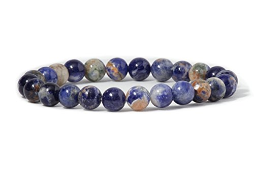 Cherry Tree Collection Natural Semi-Precious Gemstone Beaded Stretch Bracelet 8mm Round Beads 7