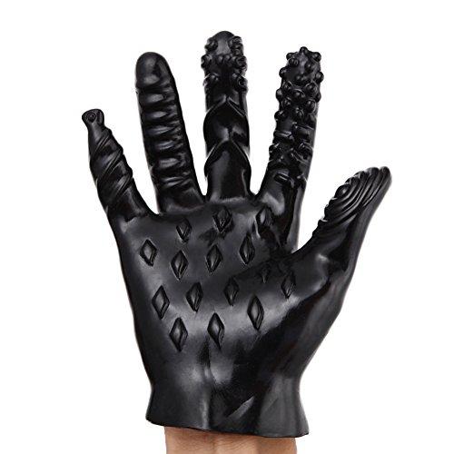 Yiwa 1 Pc Masturbation Hand Glove Finger...